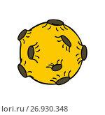 Купить «Moon with craters», иллюстрация № 26930348 (c) Михаил Гойко / Фотобанк Лори