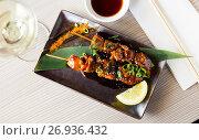Купить «beautiful japanise yakitori served», фото № 26936432, снято 15 ноября 2018 г. (c) Яков Филимонов / Фотобанк Лори