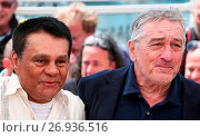Купить «'Hands of Stone' photo call during the 69th Cannes Film Festival Featuring: Roberto Duran, Robert De Niro Where: Cannes, France When: 16 May 2016 Credit: WENN.com», фото № 26936516, снято 16 мая 2016 г. (c) age Fotostock / Фотобанк Лори