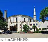 Купить «Brussels, Belgium. Parc du Cinquantenaire / Jubelpark. Great Mosque of Brussels / Islamic and Cultual Centre of Belgium (1978).», фото № 26946300, снято 18 июля 2017 г. (c) age Fotostock / Фотобанк Лори