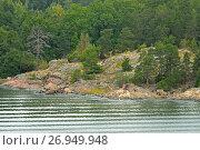 Купить «Rocky island in Baltic Sea. Aland Islands, Finland», фото № 26949948, снято 2 сентября 2017 г. (c) Валерия Попова / Фотобанк Лори