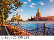 Купить «Сочные краски Красной Площади colorful Paints of Red Square», фото № 26950228, снято 3 августа 2017 г. (c) Baturina Yuliya / Фотобанк Лори