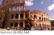Купить «Рим. Колизей. Памятник гранату», фото № 26952544, снято 15 сентября 2017 г. (c) Агата Терентьева / Фотобанк Лори