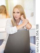Portrait of smiling woman. Стоковое фото, фотограф Кирилл Греков / Фотобанк Лори