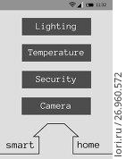 Купить «Smart house application interface», иллюстрация № 26960572 (c) Wavebreak Media / Фотобанк Лори