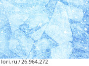 Купить «Blue background of Ice texture», фото № 26964272, снято 17 марта 2013 г. (c) Serg Zastavkin / Фотобанк Лори