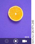 Купить «Camera phone application interface», фото № 26971240, снято 20 августа 2019 г. (c) Wavebreak Media / Фотобанк Лори