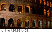 Купить «Colosseum in centre of city of Rome, Italy», видеоролик № 26981408, снято 10 августа 2017 г. (c) BestPhotoStudio / Фотобанк Лори