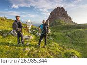 Mountain Palon at sunrise. Стоковое фото, фотограф Clickalps SRLs / age Fotostock / Фотобанк Лори