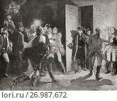 Купить «Frederick the Great surprising Austrian officers at Lissa after his victory at the Battle of Leuthen, Prussian Silesia, 1757, their surprise was so great...», фото № 26987672, снято 20 февраля 2019 г. (c) age Fotostock / Фотобанк Лори