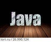 Купить «Software concept: Java in grunge dark room», фото № 26990124, снято 5 января 2017 г. (c) easy Fotostock / Фотобанк Лори