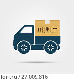 Delivery truck icon. Стоковая иллюстрация, иллюстратор Дмитрий Варава / Фотобанк Лори
