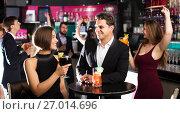 Купить «Females and males celebrating corporate», фото № 27014696, снято 20 апреля 2017 г. (c) Яков Филимонов / Фотобанк Лори