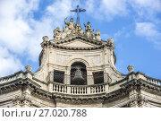 Купить «Details of baroque style Chiesa di San Placido Monaco e Martire (Church of Saint Placidus) in Catania city on the east side of Sicily Island, Italy.», фото № 27020788, снято 16 декабря 2016 г. (c) easy Fotostock / Фотобанк Лори