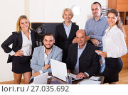 Купить «Portrait of office team», фото № 27035692, снято 10 апреля 2020 г. (c) Яков Филимонов / Фотобанк Лори