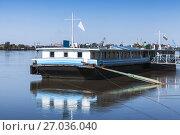 Купить «Floating pontoon pier, Danbe river, Ruse», фото № 27036040, снято 29 сентября 2014 г. (c) EugeneSergeev / Фотобанк Лори