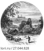 Купить «1870: Shepherd and flock on Canwick Hill overlooking Lincoln Cathedral or the Cathedral Church of the Blessed Virgin Mary of Lincoln, and sometimes St...», фото № 27044828, снято 29 августа 2017 г. (c) age Fotostock / Фотобанк Лори