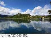Bled lake in Slovenia (2017 год). Стоковое фото, фотограф Михаил Коханчиков / Фотобанк Лори