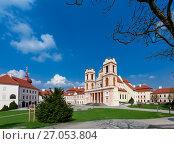 Купить «Старинный бенедиктинский монастырь Гёттвайг (Stift Göttweig) близ города Кремс. Нижняя Австрия.», фото № 27053804, снято 3 апреля 2017 г. (c) Bala-Kate / Фотобанк Лори