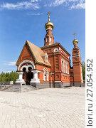 Купить «Church of the Intercession of the Blessed Virgin. Krasnouralsk», фото № 27054952, снято 16 августа 2014 г. (c) Евгений Ткачёв / Фотобанк Лори