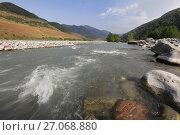 Купить «Грузия. Кавказ. Река Арагви», фото № 27068880, снято 20 сентября 2017 г. (c) Яна Королёва / Фотобанк Лори