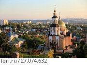 Купить «Свято-Алексиевский женский монастырь в городе Саратове», фото № 27074632, снято 10 сентября 2017 г. (c) Светлана Евграфова / Фотобанк Лори