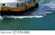 Купить «Yellow Boat Tour in Lisbon, Portugal», видеоролик № 27074880, снято 8 декабря 2016 г. (c) BestPhotoStudio / Фотобанк Лори