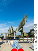 Купить «Moscow, Russia - July 24. 2017. Self-propelled radar systems at International Aviation and Space salon MAKS-2015», фото № 27083048, снято 22 июля 2017 г. (c) Володина Ольга / Фотобанк Лори