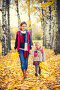 Mother and daughter in the autumn park, фото № 27094280, снято 4 октября 2016 г. (c) Sergey Borisov / Фотобанк Лори