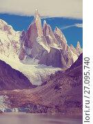 Купить «Los Glaciares National Park», фото № 27095740, снято 1 февраля 2017 г. (c) Яков Филимонов / Фотобанк Лори