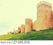 Купить «Closeup of old town walls», фото № 27095816, снято 16 ноября 2014 г. (c) Яков Филимонов / Фотобанк Лори