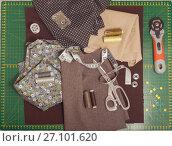 Купить «Instruction patchwork pillow», фото № 27101620, снято 26 января 2017 г. (c) Сабельникова Эля / Фотобанк Лори