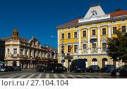 Купить «Streets of Satu Mare in Romania», фото № 27104104, снято 14 сентября 2017 г. (c) Яков Филимонов / Фотобанк Лори