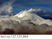 Купить «Вершина Авачинского вулкана на Камчатке», фото № 27131884, снято 4 октября 2017 г. (c) А. А. Пирагис / Фотобанк Лори