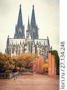Купить «Cologne Cathedral, Germany», фото № 27134248, снято 24 марта 2019 г. (c) Sergey Borisov / Фотобанк Лори