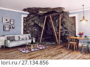 Купить «destroing interior», фото № 27134856, снято 20 марта 2019 г. (c) Виктор Застольский / Фотобанк Лори