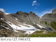 Купить «European Alps in summertime at France–Switzerland border», фото № 27144672, снято 5 июля 2017 г. (c) Юлия Кузнецова / Фотобанк Лори