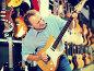 Купить «Man choosing electric guitar», фото № 27145784, снято 18 сентября 2017 г. (c) Яков Филимонов / Фотобанк Лори