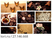 Купить «Several Christmas candy and decoration», фото № 27146668, снято 25 мая 2020 г. (c) Wavebreak Media / Фотобанк Лори
