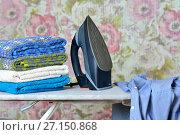Глажка одежды. Стоковое фото, фотограф Александр Палехов / Фотобанк Лори