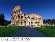 Купить «Colosseum in Rome, Italy», фото № 27154156, снято 6 июня 2012 г. (c) Iakov Kalinin / Фотобанк Лори