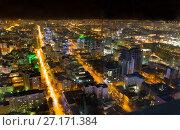 Купить «Панорама ночного Екатеринбурга с высоты птичьего полета», фото № 27171384, снято 13 октября 2017 г. (c) Евгений Ткачёв / Фотобанк Лори