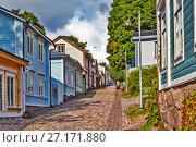 Купить «Старые улицы. Порвоо. Финляндия», фото № 27171880, снято 16 сентября 2017 г. (c) Сергей Афанасьев / Фотобанк Лори