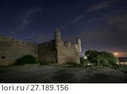 Купить «Керчь. Ночной вид на крепость Ени-Кале и звездное небо», фото № 27189156, снято 12 июня 2017 г. (c) Яна Королёва / Фотобанк Лори