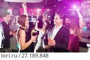 Купить «Females and males celebrating corporate», фото № 27189848, снято 20 апреля 2017 г. (c) Яков Филимонов / Фотобанк Лори