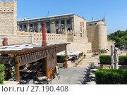Купить «Authentic cafe near the walls of the fortress of the old city of Baku. Republic of Azerbaijan», фото № 27190408, снято 23 сентября 2015 г. (c) Евгений Ткачёв / Фотобанк Лори