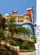 Купить «The Pena Palace. Sintra. Portugal», фото № 27195272, снято 3 июля 2016 г. (c) Serg Zastavkin / Фотобанк Лори