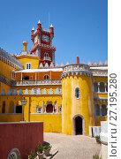 Купить «The Pena Palace. Sintra. Portugal», фото № 27195280, снято 3 июля 2016 г. (c) Serg Zastavkin / Фотобанк Лори