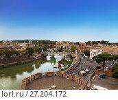 Купить «Вид сверху с замка Святого Ангела на Рим, Италия», фото № 27204172, снято 11 сентября 2017 г. (c) Наталья Волкова / Фотобанк Лори