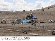 Купить «Races on quad bikes. Sports trial», фото № 27206500, снято 16 августа 2017 г. (c) Евгений Ткачёв / Фотобанк Лори
